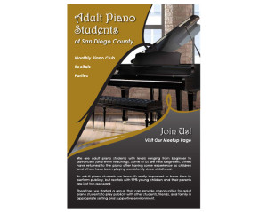 Adult Piano Students - Info card