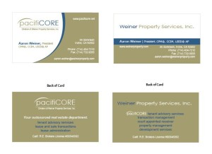 PacifiCore - Business Cards