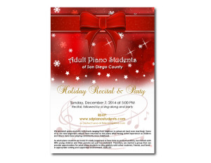 Adult Piano Students - Invitation